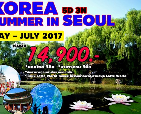 SUMMER SEOUL 5 วัน 3 คืน พักกรุงโซล 3 คืน
